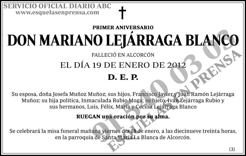 Mariano Lejárraga Blanco